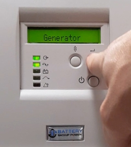 Battery Backup Power Generator Capable Uninterruptible Power Supply