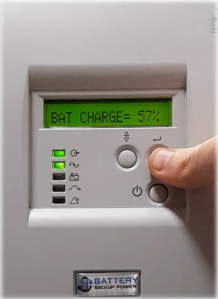 Battery Charge Level On Battery Backup Power Uninterruptible Power Supply (UPS) System