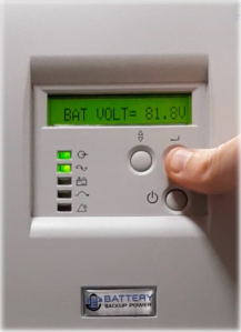 Battery Voltage On Battery Backup Power Uninterruptible Power Supply (UPS) System