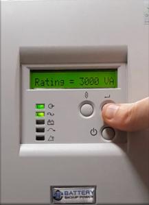 Capacity Rating On Battery Backup Power Uninterruptible Power Supply (UPS) System