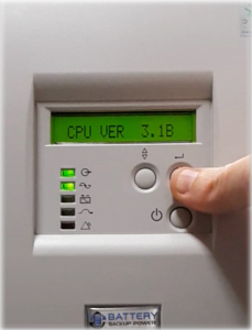 CPU Version On Battery Backup Power Uninterruptible Power Supply (UPS) System