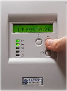 Input Frequency On Battery Backup Power Uninterruptible Power Supply (UPS) System