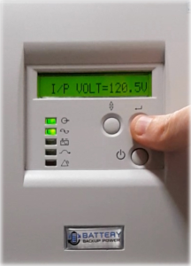 Input Voltage On Battery Backup Power Uninterruptible Power Supply (UPS) System