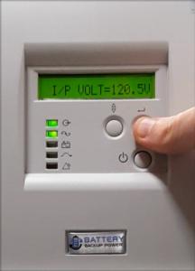 Input Voltage On Battery Backup Power Uninterruptible Power Supply (UPS) System