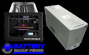 Uninterruptible Power Supply (UPS) For MakerBot Replicator 2X 3D Printer