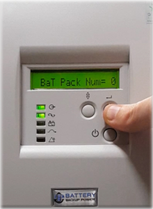 Number Of Attached External Battery Packs On Battery Backup Power Uninterruptible Power Supply (UPS) System