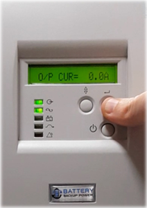 Output Current In Amps On Battery Backup Power Uninterruptible Power Supply (UPS) System