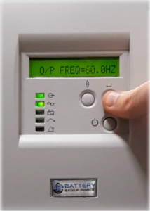 Output Frequency On Battery Backup Power Uninterruptible Power Supply (UPS) System