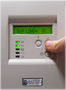 Output Load On Battery Backup Power Uninterruptible Power Supply (UPS) System