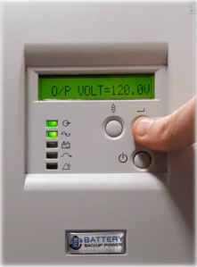 Output Voltage On Battery Backup Power Uninterruptible Power Supply (UPS) System