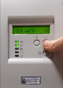 Output Wattage On Battery Backup Power Uninterruptible Power Supply (UPS) System