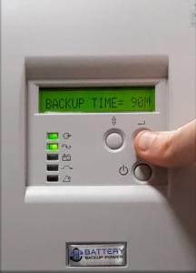 Remaining Backup Time On Battery Backup Power Uninterruptible Power Supply (UPS) System