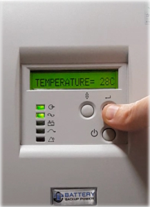 Temperature On Battery Backup Power Uninterruptible Power Supply (UPS) System