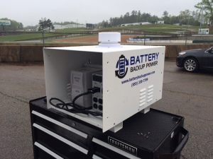 MotoAmerica Setup Of Battery Backup Power, Inc. Unit