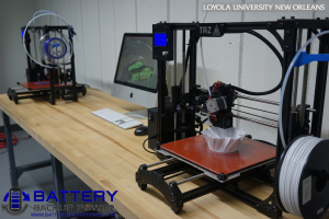 Loyola University New Orleans 3D Printing Education Printer In Progress