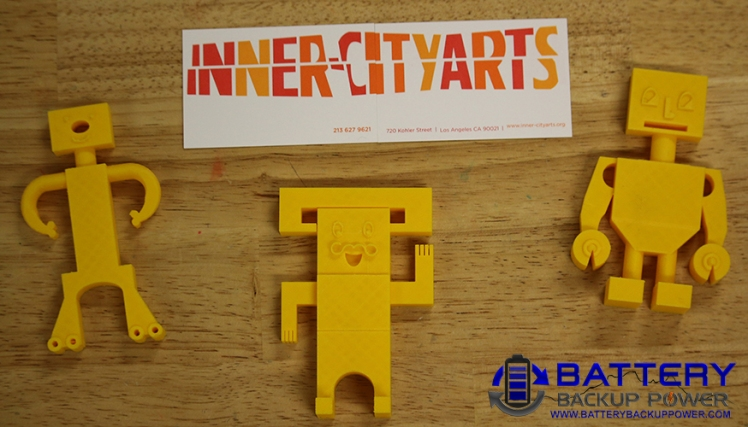 Inner-City Arts Completed Student 3D Print Jobs