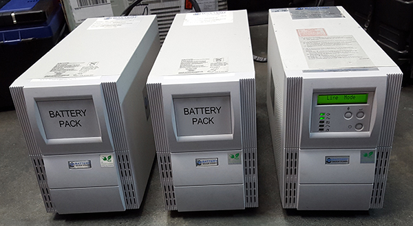 Battery Backup Power Rental Units Charging Before Going Out