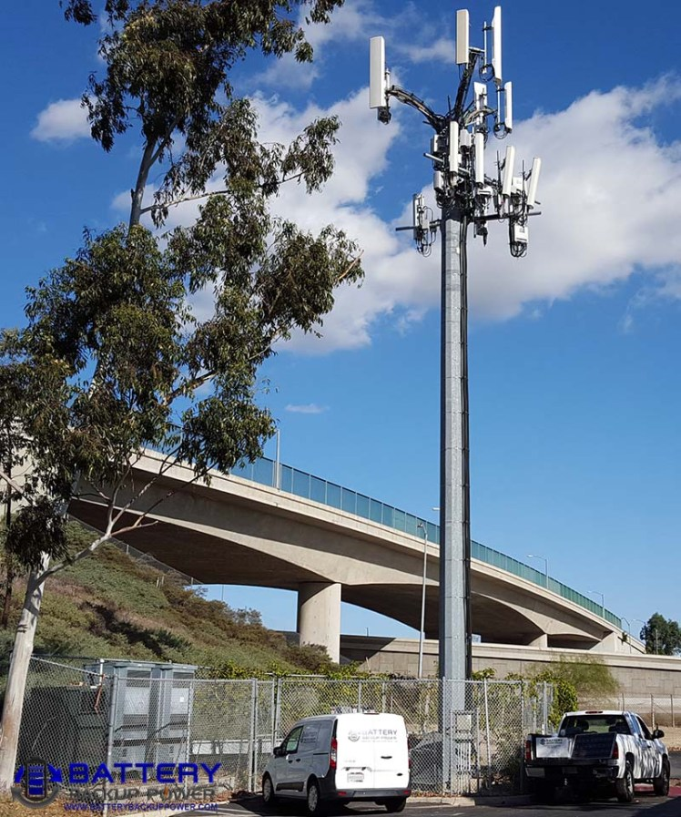 Battery Backup Power Vehicles At Cell Tower Site