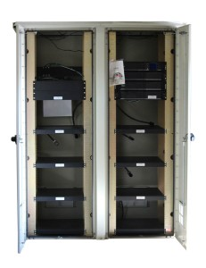 Large Open NEMA Enclosure With Integrated Uninterruptible Power Supply (UPS)