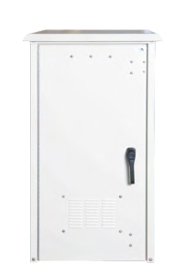 Small NEMA Enclosure With Backup Power Front View With Closed Doors
