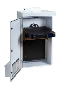 Small NEMA Enclosure With Fold Out Uninterruptible Power Supply (UPS)