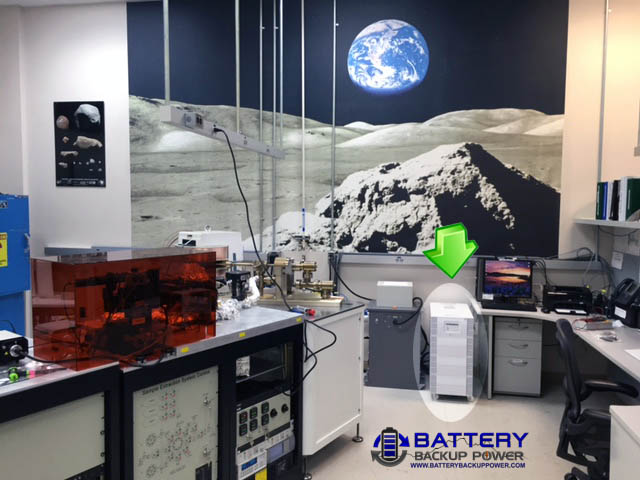 National Aeronautics and Space Administration (NASA) Using A 10kVA Battery Backup Power UPS In Its Moon Rock Analysis Laboratory