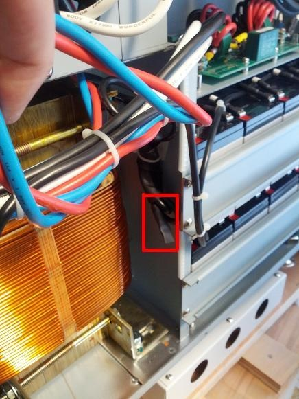 BBP-10000-PSW-ONL 208 Volt To 240 Volt Input Adjustment After Delivery Figure 2