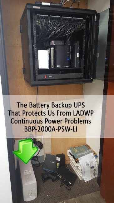 The Bulletproof Battery Backup UPS That Protects Us From Constant LADWP Power Issues
